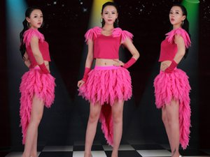 Wholesale Jacket skirt gloves DS leads the dance pipe performance Jazz stage costume sexy sexy set DJ female singer costume