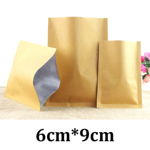 Wholesale laminated papers for sale - Group buy 6cm cm x brown kraft paper laminated aluminium food vacuum bags