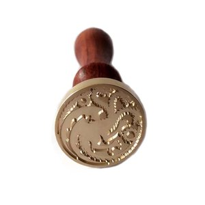 Wholesale Hot Sell Movie Fans collection Game Of Thrones Wooden Wax Seal Stamp House sigils Family Badges