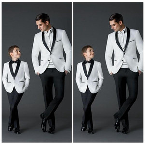 Wholesale Custom Made New Fashion Groom Tuxedos Men s Wedding Dress Prom Suits Father And Boy Tuxedos Jacket Pants Bow Formal Wear Tuxedos