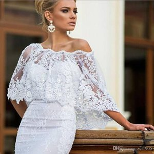 New Lace Appliques Elegant Wedding Jacket White Fashion Off Shoulder Bridal Wraps Women Shawls Accessories Wedding Bolero