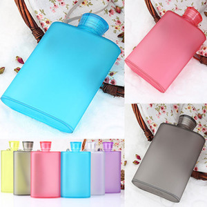 Wholesale Frosted Hip Flasks Wine Cup ML Creative Portable Bottle Food grade AS Plastic Outdoor Travel Mugs Color WX C37