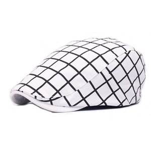 Wholesale Men Women Cotton Flat Plaid Tartan Newsboy Beret Ivy Irish Driving Hunting Golf Cabbie Cap Hat