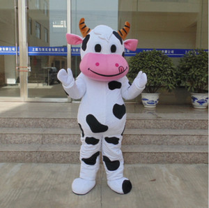 Hot sale!! PROFESSIONAL FARM DAIRY Cow Mascot Costume cartoon Fancy Dress Free Shipping