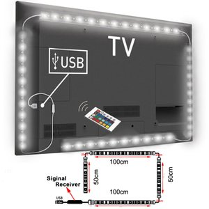 Wholesale USB Powered RGB Colour Change LED Strip lamp Computer TV USB Backlight Light Kit Screen TV LCD Desktop PC cm cm