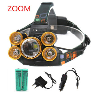 Wholesale Rechargeable lm led Bicycle headlight ZOOM headlamp Hunting lamp fishing light battery Car AC Charger usb