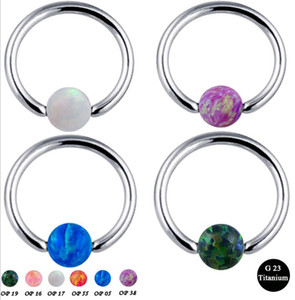 100% G23 Titanium Hoop Nipple Rings Clip Ball Studs Nose Ring Lip Piercing Body Jewelry for Men Women on Sale