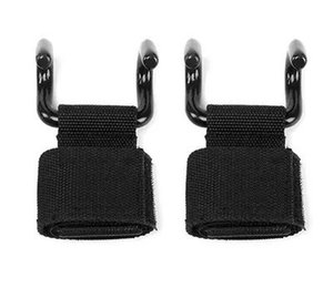 2pcs set Black Power Double Lift Hooks Weight Lifting Bodybuilding Wrist Straps Support Chin Up Bar Strength Training equipment on Sale