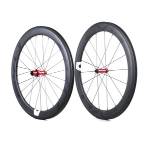 EVO carbon road bike wheels 60mm depth 25mm width full carbon clincher tubular wheelset with Straight Pull hubs Customizable LOGO