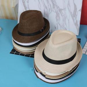 Vogue Men Women Straw Hats Soft Fedora Panama Hats Outdoor Stingy Brim Caps Colors Choose ZDS*10