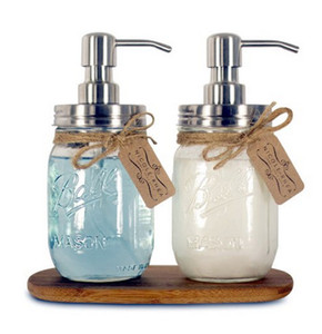 DIY Hand Soap Dispenser pump Stainless Steel Mason Jar Countertop Soap   Lotion Dispenser polish chrome ORB golden HY-03