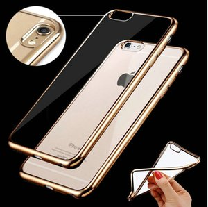 Wholesale Luxury Gold Plating Soft TPU Gel Skin Case for Iphone X S Plus SE S Bulk DHL