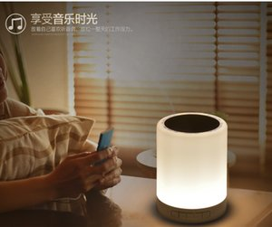 Lampe de chevet LED, Changement de couleur Touch Dimmable Lampe de table LED, Portable Bluetooth Haut-parleur Lumières table nuit on Sale