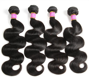 Brazilian Body Wave Bundles Human Hair Weave Bundles Natural Color Hair Can Buy 3 or 4 pcs Non Remy Hair Extensions on Sale