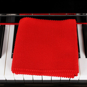 Wholesale High Quality Soft Wool Piano Keyboards Protective Dirt proof Cover Durable Colour Red Piano Dust Cover