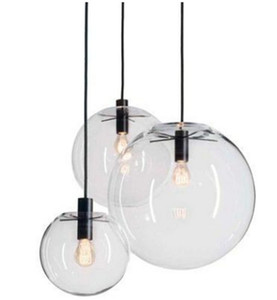 Wholesale lamps shades for sale - Group buy Modern Nordic Lustre Globe Pendant Lights Glass Ball Lamp shade Hanging Lamp E27 Suspension Kitchen Light Fixtures Home Lighting LLFA
