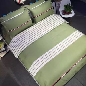Wholesale male gods stiped design flat sheet bedding set four pieces per set home textile products inch bed and inch bed