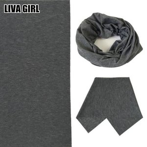 Wholesale Liva Girl New Hot Solid Color Soft cm Headband Magic Headscarf Tube Neck Face Mask Multifunctional High Quality Female Male