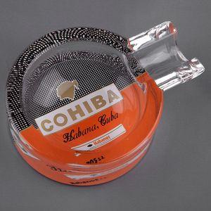 COHIBA Classic Gadgets Portable Transparent Pattern Crystal Cigar Ashtray