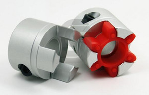 Wholesale jaw shaft resale online - Jaw Spider Plum Shaft Coupler Plum coupling Connector D mm L mm Inner hole to mm plum shaped flexible coupling