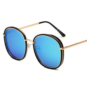 Wholesale designer polarized sunglasses UV protection shades sun glasses for women and men TAC Polarizing lens PC and metal frame fashion blue pink