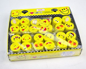 Wholesale eraser pencil rubber School cartoon eraser study tool supplies office stationery cute Smiling face eraser