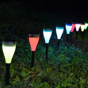 Wholesale 7 Colors Changing Solar Lights with Lighting Modes LED Solar Powered Outdoor Garden Stake Lights Hanging Lamp for Yard Path Lawn Landscape