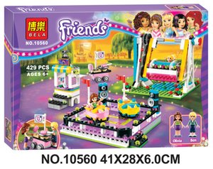 The new girl series of amusement park bumper cars 10560 children puzzle blocks toys