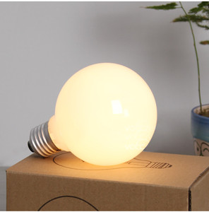 Wholesale Big High quality glass Bright white light bulb Incandescent Bulbs G95 G80 E27 V Milk White Dragon Ball Bulb Light Bulbs
