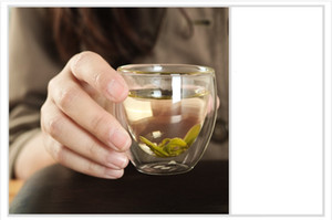 Wholesale 10pcs ML heat resistant glass tea cups double layer coffee cup handmade hot selling G0062