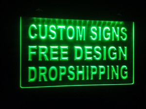 Wholesale design your own custom Light sign hang sign home decor shop sign home decor