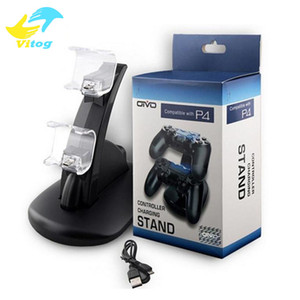 Wholesale Dual chargers for ps4 xbox one wireless controller usb charging dock mount stand holder for ps4 xbox one gamepad playstation with box