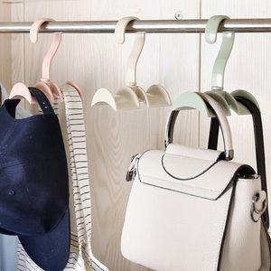 Hanging Closet Organizer Hooks Hanger Holder for Purses, Handbags, Satchels, Backpacks, Ties, Belts, Fashion Jewelry Accessories