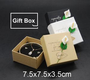 Wholesale DHL FedEx FREE cm Jewelry Boxes Top Quality Gift Boxes for earrings necklace Lily Flower Packaging Box