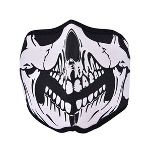 Wholesale Outdoor Cycling Motorbike Tooth Neoprene Ghost Skull Balaclava Face Mask Headgear Bike Cycling Ski Outdoor Half Full Masks