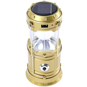 Wholesale New Creative LED Rechargeable Camping Lantern Outdoor Portable Lights Camping Lighting Lamp Torch Flashlight Cycling Tool Days Delivered