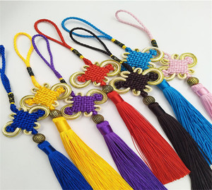Wholesale 10Pcs Red Chinese Knots Multi Color Nylon Cord Tassel DIY Lucky Knot Accessories Home Party Wedding Decorations for Car Living Roon H02