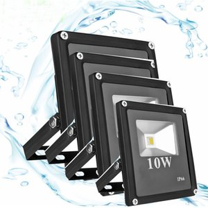Wholesale wall lighting outdoors resale online - 12V LED Flat Flood Light IP66 V V W W W W W Projector Lamp for Outdoor Street Wall Spotlight Warm white Cool white CE ROSH