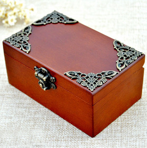 Classical Style Wooden Rectangle Shape Music Boxes Classic Carving Jewelry Box For Cute Gifts