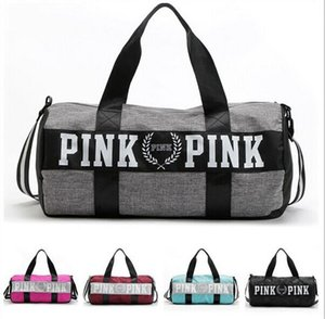 Women Handbags pink Large Capacity PINK Travel Duffle Striped Waterproof Beach Bag Shoulder Bag LLFA