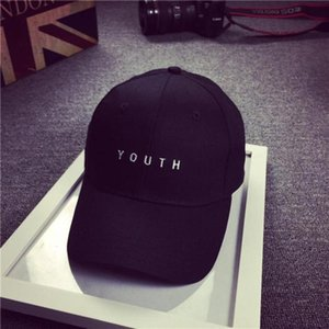 Wholesale Fashion Cap Women Men Summer Spring Cotton Caps Women Letter Solid Adult baseball Cap Black White Hat Snapback Women Cap