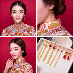 Woman headdress hair Lomen bride Chinese retro Tassel Earrings earpins Wedding Costume Accessories phoenix coronet and robes of rank 3000043