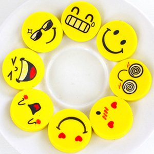 Wholesale Emoji Eraser Cartoon Rubber Smile Face Emotion Cute Expression Erasers For Pencil Novelty Stationery School Prize Supplies mc F R