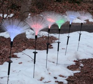 Wholesale Christmas and New year yard light set of Fiber Optic Solar Light Glows Like a Burst of Fireworks in the Garden solar garden stake light