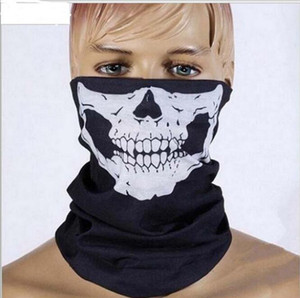 Wholesale Skull Face Mask Outdoor Sports Ski Bike Motorcycle Scarves Bandana CS Neck Snood Halloween Party Cosplay Full Face Masks