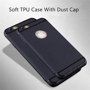 Wholesale Frosted Matte Ultra Thin Soft TPU Case Fingerprint Proof Dustproof Plug Cases Candy Color Back Cover For iPhone x plus s plus s se