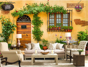 Wholesale wallpaper mural coffee resale online - 3d room wallpaper custom photo mural European style coffee shop TV wall background painting picture d wall murals wallpaper for walls d