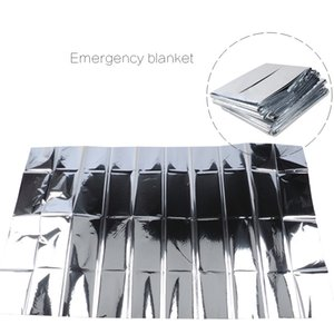 Wholesale New Outdoor Water Proof Emergency Survival Rescue Blanket Foil Thermal Space First Aid Sliver Rescue Curtain Military Blanket