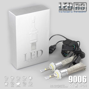 R3 80W 9600LM Car H7 LED Headlight H1 H3 H4 H7 H8 H11 9005 9006 xenon white 6000K XHP-50 Car LED Headlight Bulb
