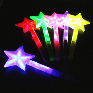 Luminous plate, five pointed star, large flashing five pointed star, flash bar, colorful fluorescent rod, concert, wholesale bar
